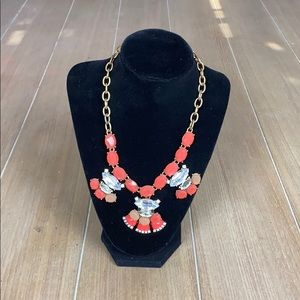 Coral Jeweled J. Crew Necklace